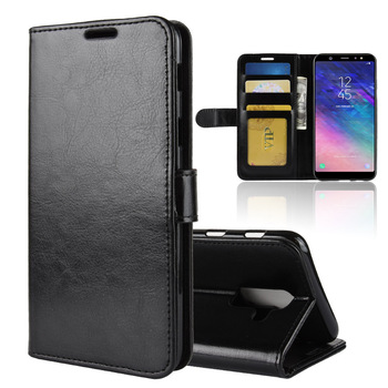 brand new 57701 edc49 R64 Pu Stand Card Holder Wallet Flip Leather Case For Samsung Galaxy A6+  2018 /a6 Plus - Buy Leather Case For Samsung Galaxy A6+ 2018 /a6  Plus,Wallet ...