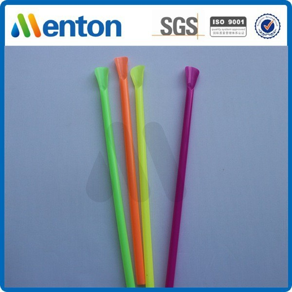Yiwu high quality colorful plastic drinking spoon straw