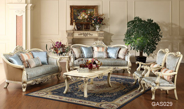 Cheap Antique Living Room Sofa Set Made In China Gas030