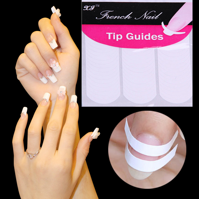 2018 Professional Artificial French Nail Tip Natural White & Clear ...