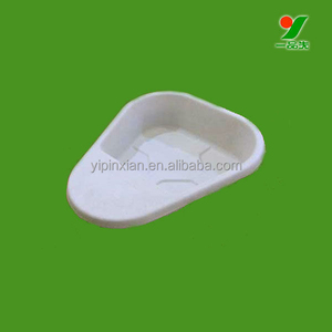 Hospital recyclable molded paper pulp disposable sugarcane kidney pan liner