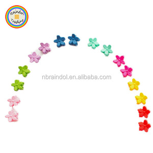 YWJQ038 RDT Hot Sale Korean Kids Mini Pure Color Floral Hair Claw Clips Vintage Gir Fringe Hairclips