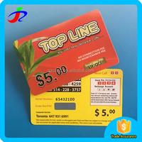 Prepaid top-up phone scratch calling card