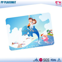 Table Decoration & Accessories Type and PP Plastic Type cartoon dolphin animal placemat/pp table mat