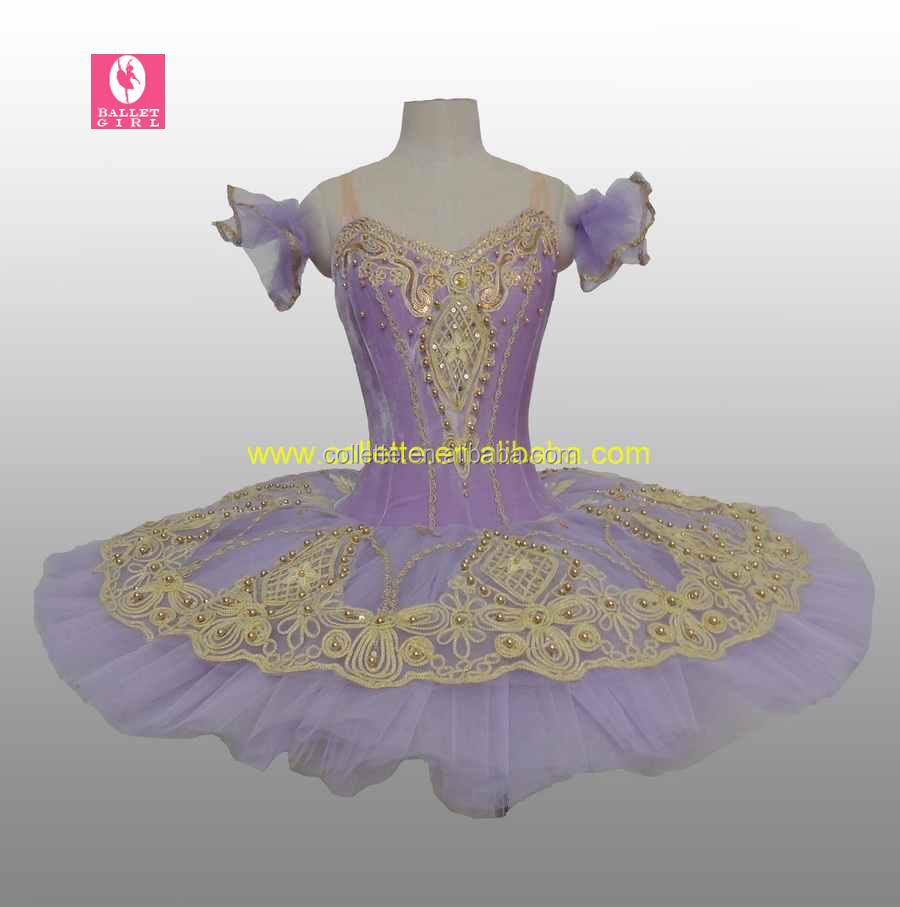 832524b46 Bly1688-2 Purple Teen Gilr Velvet Leotard Stage Ruffles Ballet ...