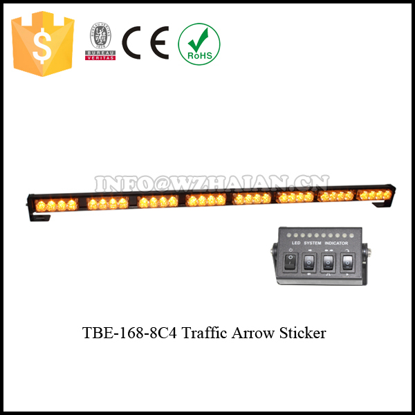 Traffic Advisor With Arrow Sticker Slim  LED Strip Light Bar Amber Led Lightbar