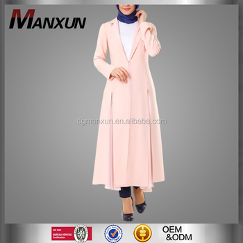 Latest Women Turkish Clothing Muslimah Abaya Loose Islamic Coat
