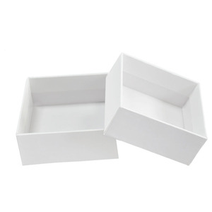 custom luxury white gift paper package scarf box