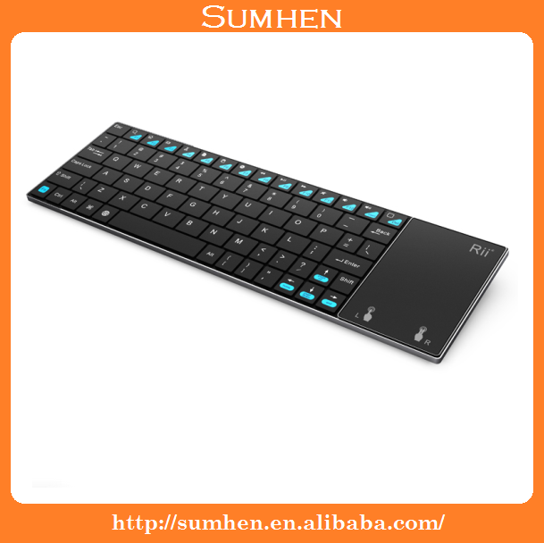 Slim Rii i12 2.4G Wireless Mini Keyboard with Touchpad for Laptop PC TV Box UK