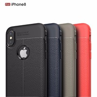 Hot selling soft leather tpu case for iPhone8, for iPhone8 leather tpu back cover