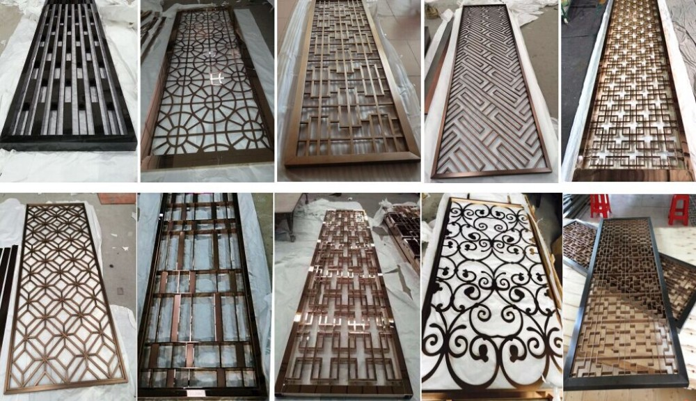 Metal Screen Room Divider, Laser Cut Screen Partition Sheet For  Hotels/living Room