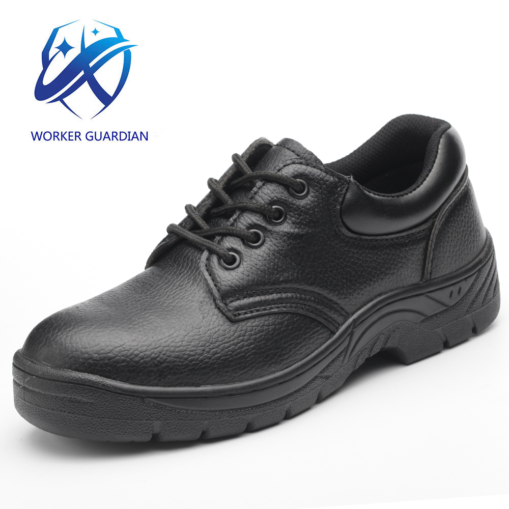 Cheap Price Low Cut PU Leather Safetoe Iron Steel Toe Cap anti-piercing Rubber Sole Safety Shoes Men Women Work SBP EN