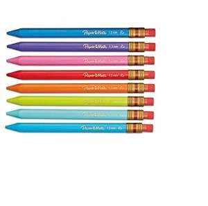 Paper Mate Mates 1.3mm Mechanical Pencils, 8 Colored Barrel Mechanical Pencils (1862168) (3, 8 Pack)