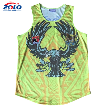 OEM orders acceptable make your own sleeveless super rugby jersey