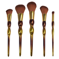 7/8pcs new look rainbow color private label make up brushes makeup kits