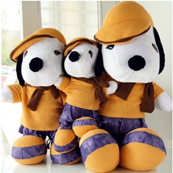 Cute and cheap embrace classic collection stuffed plush toy with clothes