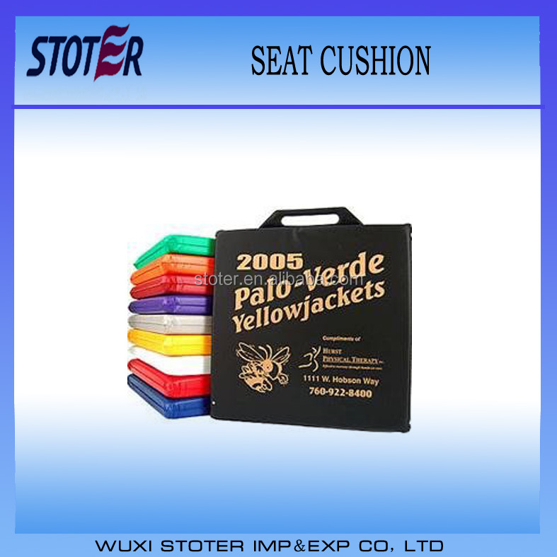 Customized promotional PVC stadium seat cushion