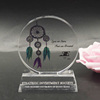 custom shaped crystal blank acrylic award stands art crafts
