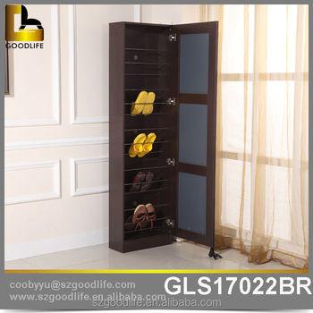 Home Corner Mirror Shoe Rack Designs Wood Made In China