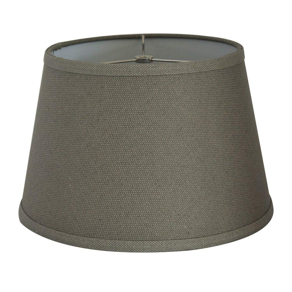 """Tootoo Star Fabric Natural Linen Cone Barrel Hand Crafted Gray Lamp Shade Medium Lampshade for Floor Table Lamp,9x12x8"""" Spider"""