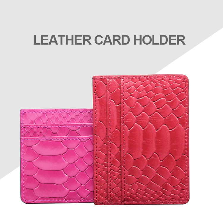 Custom Genuine Cow Leather RFID Front Pocket Wallet Minimalist Slim Credit Business Card Saffiano Leather Card holder