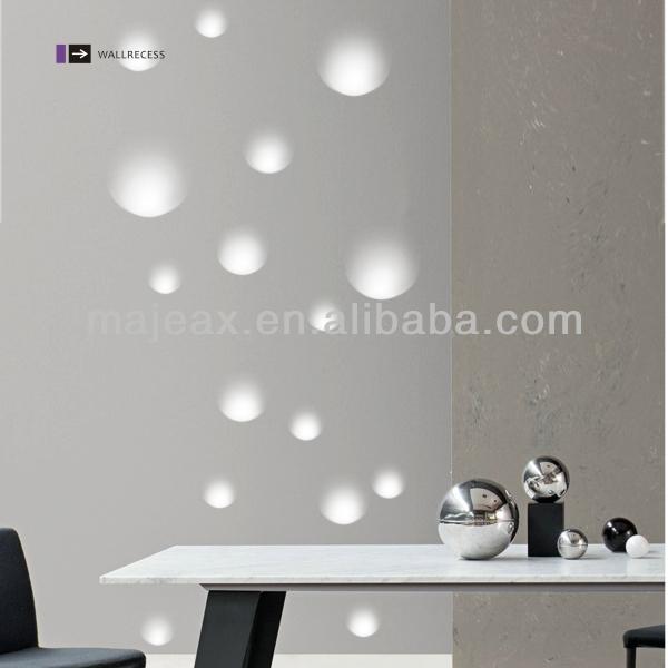 Modern Gypsum Recessed Wall Led Lighting