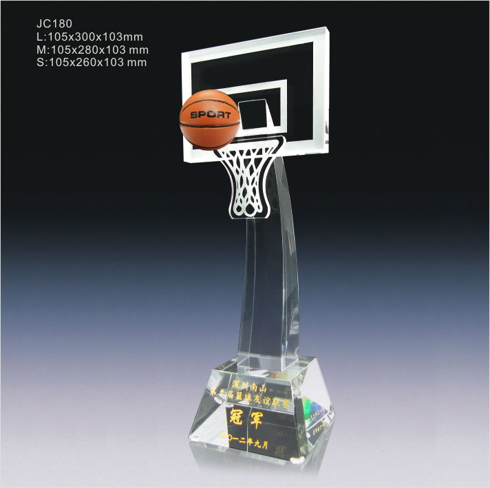 Jingrui Crystal Basketball Trophy Jc180