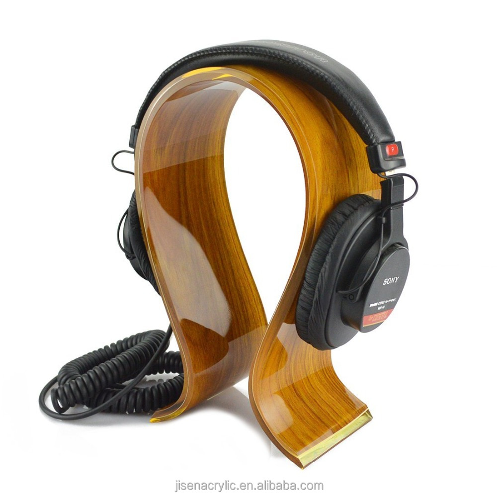 Acrylic Omega Headphones Stand / Headset Holder / Desk Display Hanger, Professional, Gaming Headset and Many Earphones