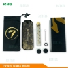 China factory 7pipe agent original 7 pipe twisty glass blunt pipe pen for smoking water pipe/silicone dab rig