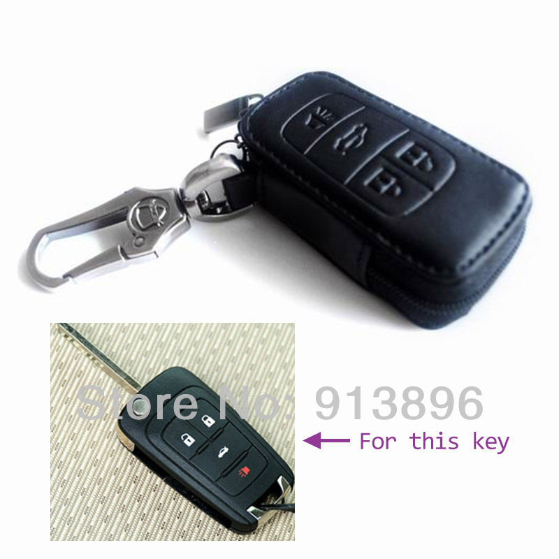 Abs Smart Remote Key Case Ring Shell Holder Cover For: Leather Car Key Case Fob Cover For Buick Regal Car Smart