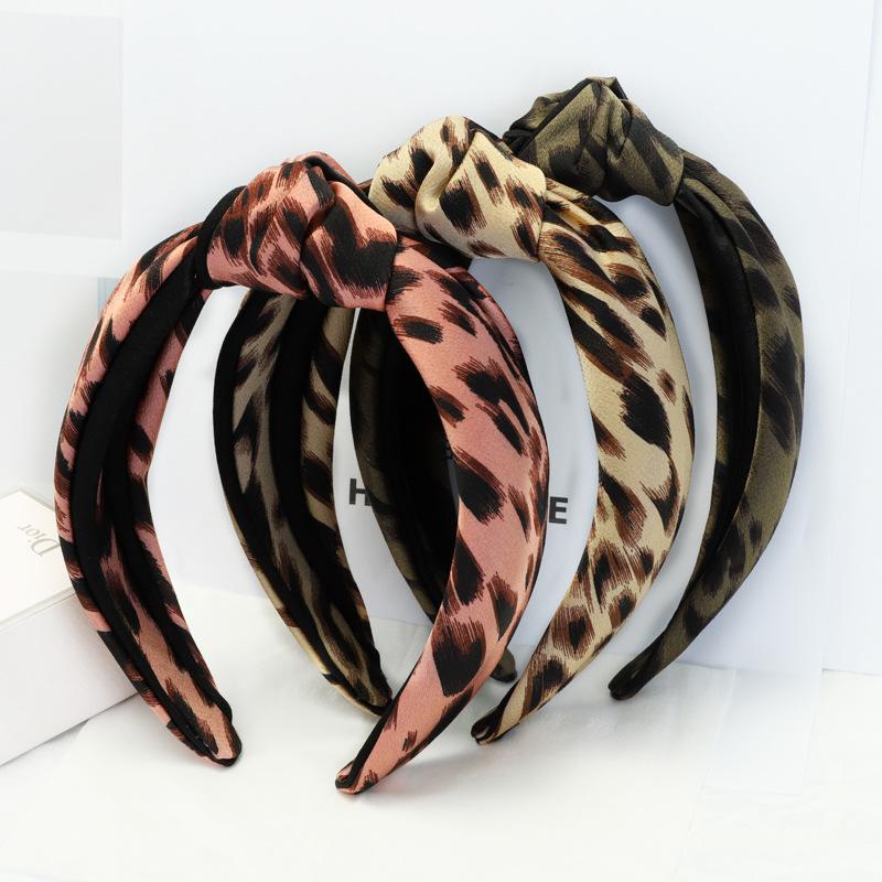 d7fe113effd9 Nueva llegada de 2018 accesorios de moda para el pelo de invierno diadema  nudo de leopardo
