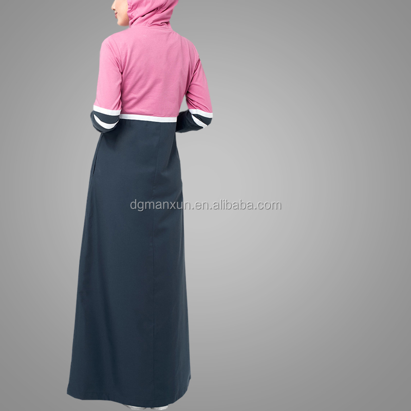 Modern Jubah Abaya Dubai Ladies Sports Abaya Fashion Simple Style High Quality Muslim Dress