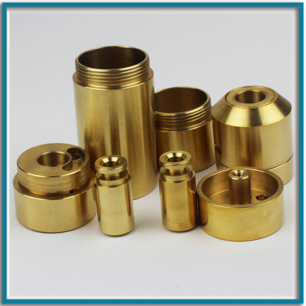 Custom small cnc turning brass pipe fitting for machinery