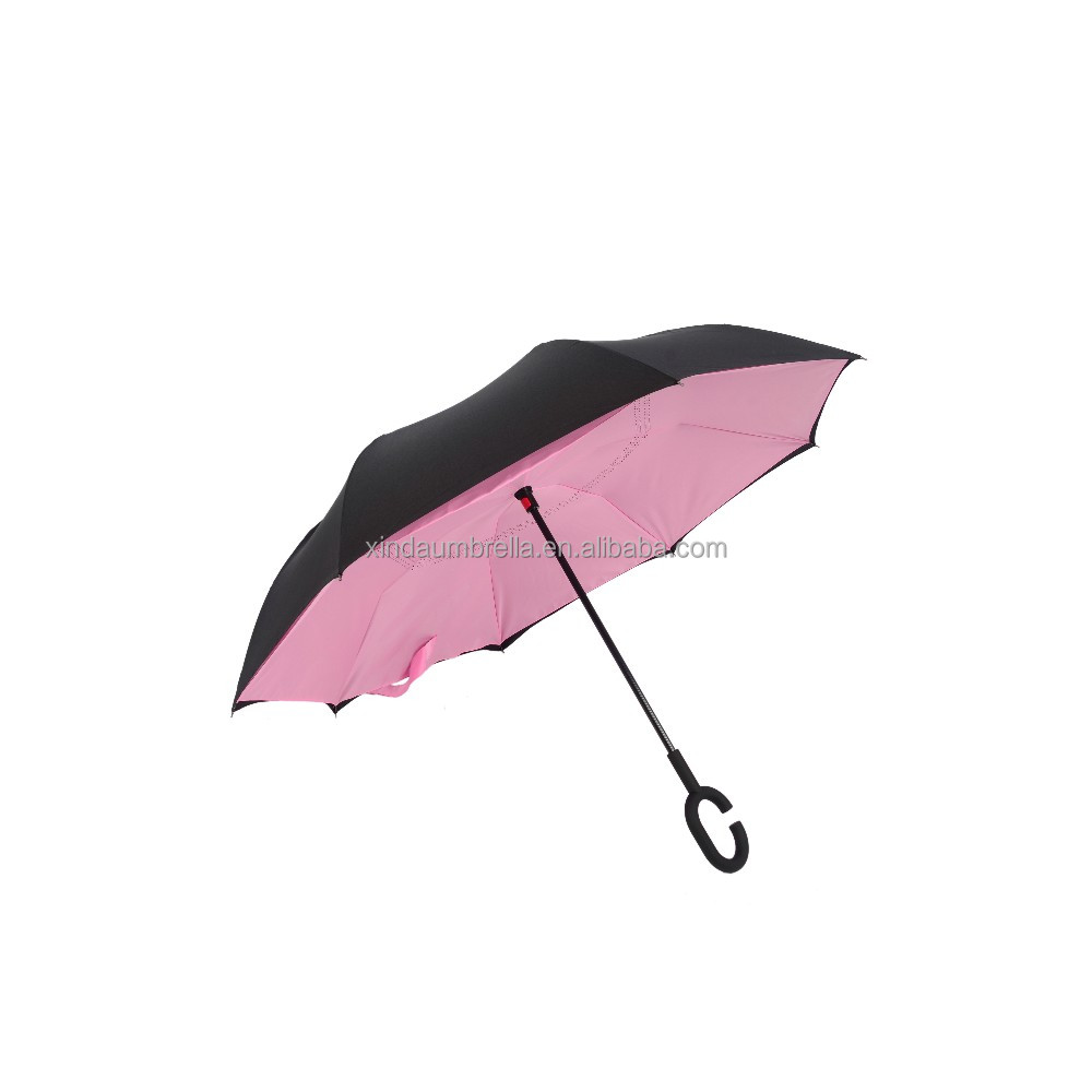 Top qualité 23 pouces conception spéciale Upside Down Magic parapluie coupe-vent KAZbrella U-proof C-Handle parapluie inversé