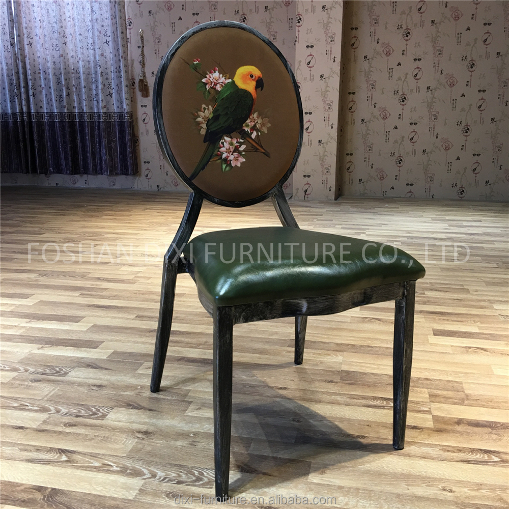 Oval back wooden imitation hotel banquet wedding dining chair