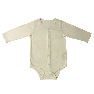New Baby All Cotton Long Sleeve Triangle Jumpsuit With Button
