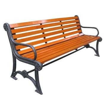 Antique Cast Iron Park Bench Legs Wood Slats For