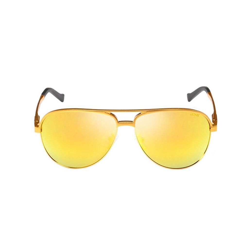 ZWC New aluminum-magnesium light color film frog mirror sunglasses men classic big box retro fashion sunglasses