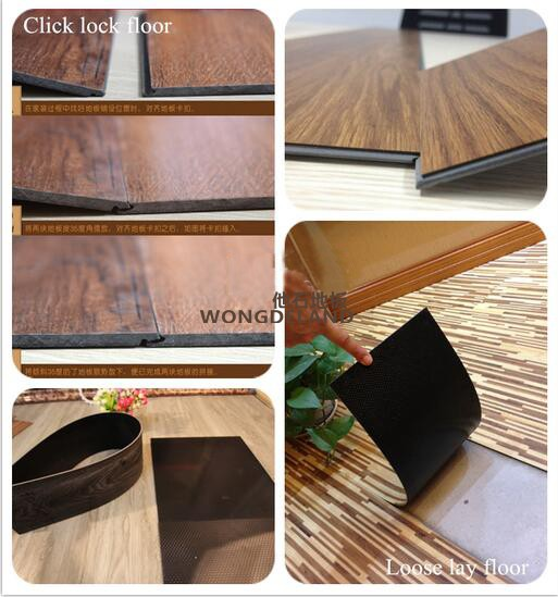 China WPC factory offer directly environmental commercial synchronized laminate flooring with colorful selection