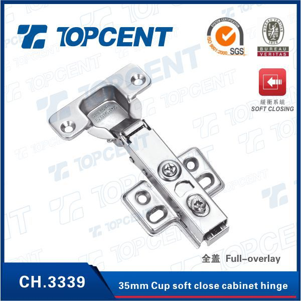Topcent Hardware Small Adjustable Spring Hinge for Cabinet Door