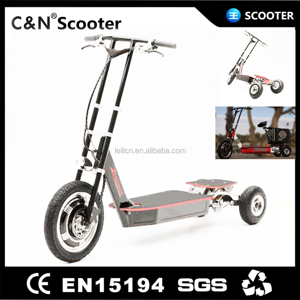 Adults newly 60v 1000w three wheel electric scooter 3 motor 3 battery inside
