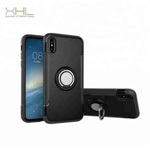 Metal Finger ring holder protective vehicle cell phone case for iphone x cases