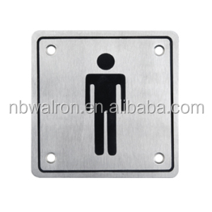Stainless Steel 304 Indication Sign Plate for Toilet