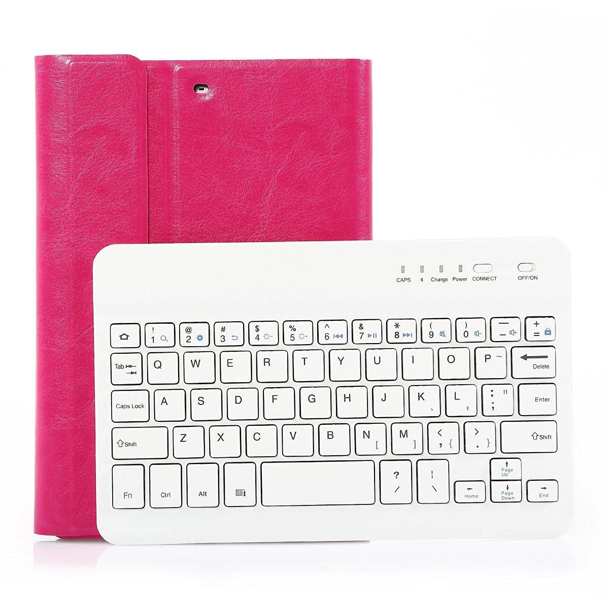 SymbolLife iPad mini 1/2/3 Keyboard Case - Ultra Slim Shell Lightweight Cover with Magnetically Detachable Wireless Bluetooth Keyboard for iPad mini 3 / iPad mini 2 / iPad mini 1, Rose