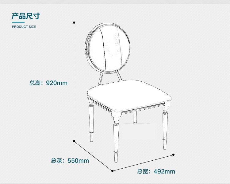 New Style European Stainless Steel Chair