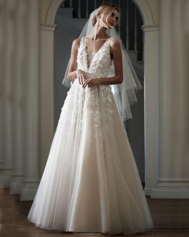 V Neck Lace Wedding Dresses: Ariane Gown V Neck Sleeveless Country Western Wedding
