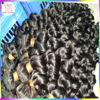 100% Monglian Virgin Human Hair New Loos curly wavy Extensions 1000grams Top 8A Unprocessed RAW hairs