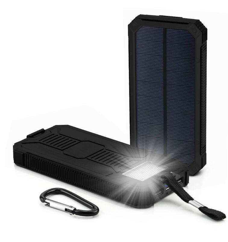 OEM Solar Power bank 10000mAh Solar Charger With 6 PCS LED Lamp Powerbank 4 Colors