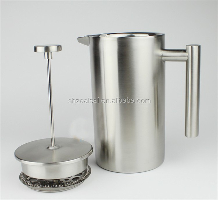 New style double wall French presses pot coffee pot/tea pot stainless steel elegant percolator