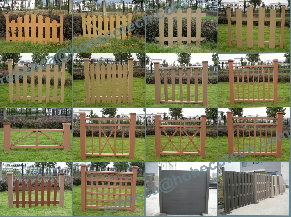 Eco friendly wpc waterproof outdoor privacy fence panel for Barandales de madera para jardin